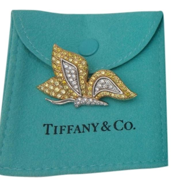 Item - Yellow and White Rare Co Diamond Butterfly Brooch Pin