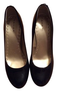Tahari Patent Leather Classic Black Pumps