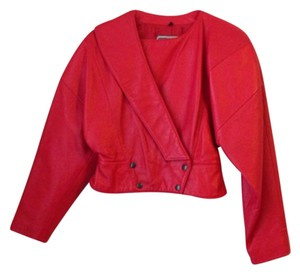 Michael Hoban Red Leather Jacket