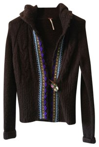 Free People Sweater Cable Knit Sweatshirt