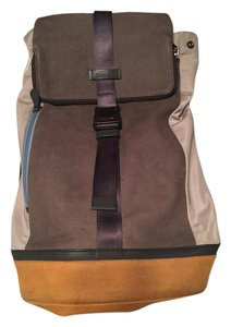 Coach Fashionable Nylon Suede Leather Backpack