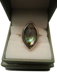 QVC Abalone sterling ring