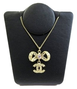 Chanel Chanel Ribbon Neckalce with Rhinestone