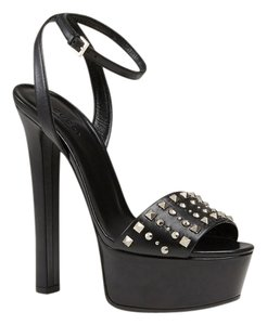 6dea00cdf2a US 9.5. Sold Out. Gucci Size 38.5 Heel Studded Leather High Heels black  Platforms