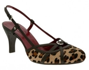 Cole Haan Leopard Pony Print w/black leather Pumps