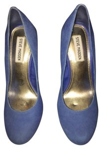 Steve Madden Bright Blue Platforms