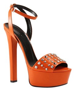 Gucci Heels Studs Sandals ORANGE Platforms