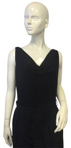 Norma Kamali Norma Kamali Sleeveless Black Top Sz XL
