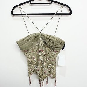 Mandalay short dress Olive Pale Lace Sequin Evening Top on Tradesy