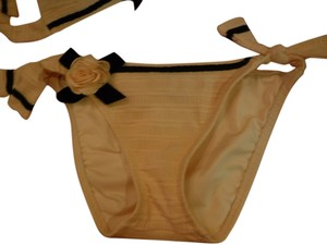 Betsey Johnson Yellow Rose Bikini Bottom