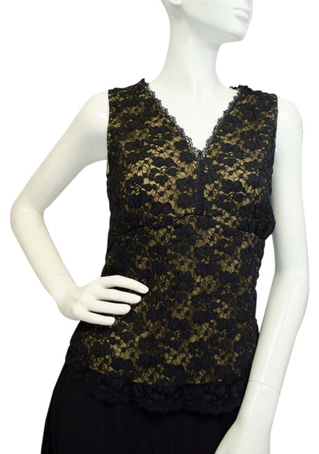 Item - Oh Lacey Black Tank Top/Cami Size 4 (S)