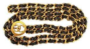 Chanel CHANEL CC Logo Gold Chain Belt