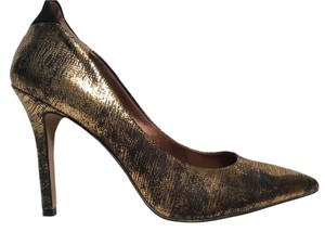 Sam Edelman Crackle Crackle Finish Antique Gold Pumps