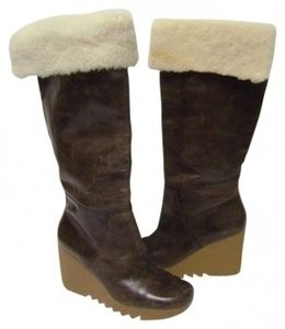 MICHAEL Michael Kors Wedge Cocoa Brown Boots