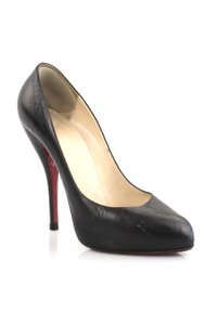 Christian Louboutin Leather Feticha Black Pumps