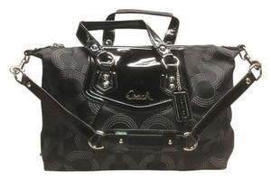 Coach Ashley Dotted Op Art Satchel in Black