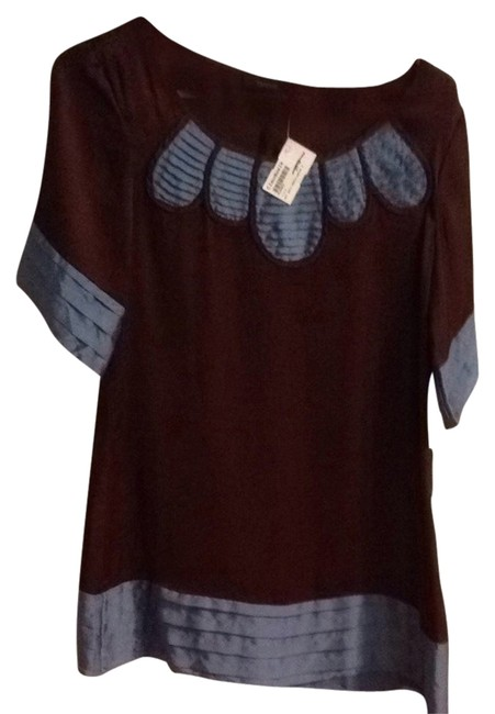 Preload https://item3.tradesy.com/images/theme-dress-brown-and-blue-1264182-0-0.jpg?width=400&height=650