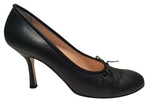 Isaac Mizrahi Leather Black Pumps