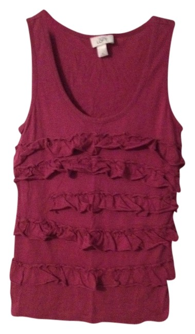 Ann Taylor LOFT Top Muted Magenta