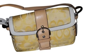 Coach Yellow and white Clutch