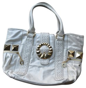 Betsey Johnson Leather Large Tote in White