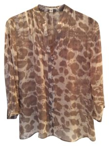Banana Republic Top Cream and taupe