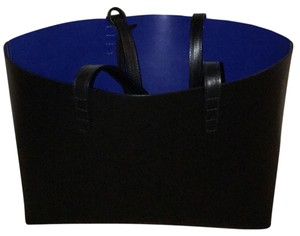 Mansur Gavriel Tote in Black/Royal