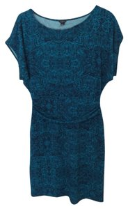 Ann Taylor short dress Turquoise and black on Tradesy