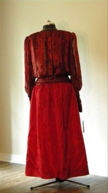 Morton Myles Silk Drop Waist Vintage Dress