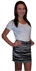 Material Girl Mini Skirt Black & white