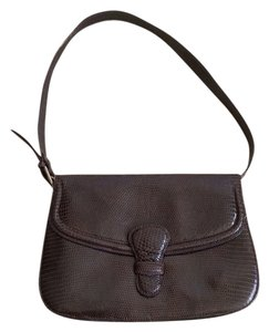 Bergdorf Goodman Italian Lizard Shoulder Bag
