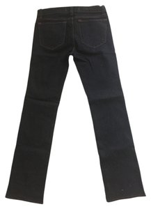 J Brand Denim Skinny Dark Rinse Medium Rise Classic Regular Inseam Straight Leg Jeans-Dark Rinse