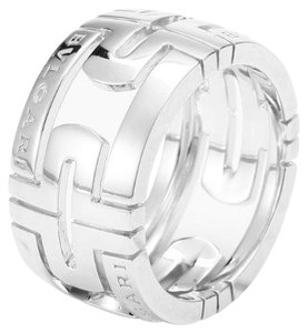 BVLGARI BVLGARI 19K WHITE GOLD PARENTESI RING AN853974 US 7