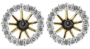 ABC Jewelry Diamond Earring Jackets Not Enhanced .50tcw H/Si2 14k Yellow Gold Made In USA