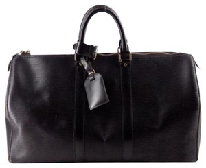Louis Vuitton Duffle Black Epi Keepall45 Noir (Black) Travel Bag