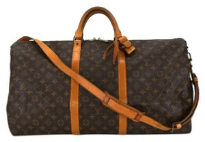 Louis Vuitton Keepall 60 Bandouliere Monogram Travel Bag