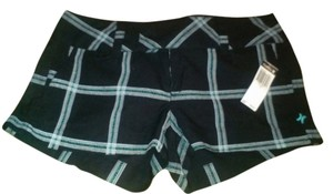 Hurley New New With Tags Summer Mini Logo Plaid Mini/Short Shorts Black plaid