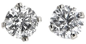 ABC Jewelry Diamond stud earrings rounds Not Enhanced 1.50tcw J-i1 14k White Gold Made USA