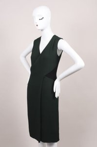 Derek Lam Forest Green Black Dress