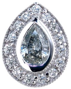 ABC Jewelry Diamond Pendant Bezel set Pear Shaped .84tcw H-Si2 14k White Gold Made In USA