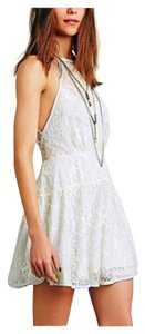 Free People short dress Ice Combo (White w/pale blue-green liming) on Tradesy