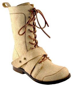 Gee WaWa Leather Artsy Rocker Natural Boots