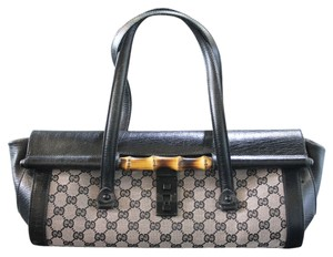 Gucci Bamboo Monogram Canvas Bullet Shoulder Bag