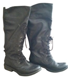 Rocket Dog Combat Black Boots