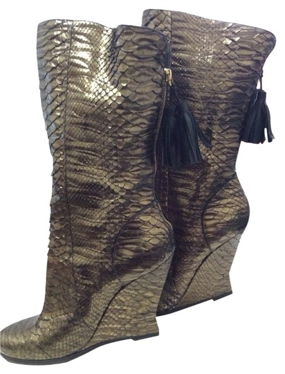 Saint Laurent Metallic Gold Boots