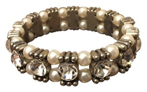 J.Crew J. Crew Pearl and Silver Crystal Bracelet