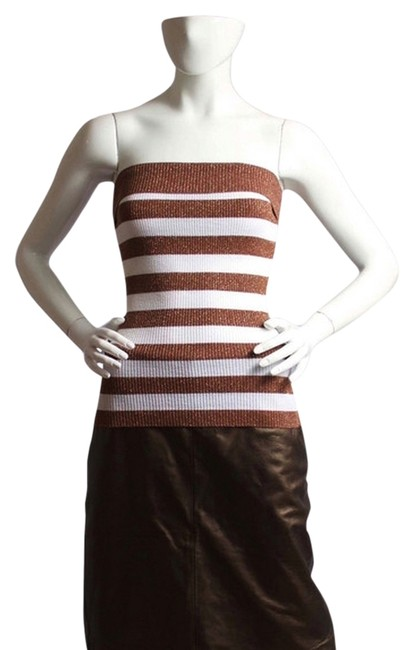 Item - Shimmered Brown Tube Tank Top/Cami Size 6 (S)