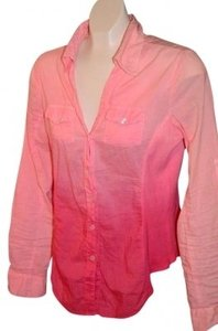 Max Rave Buttons Down Front Top Pink/Deep Pink