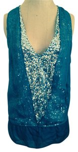 Robbi & Nikki by Robert Rodriguez Sequin Silk Top