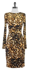 Karen Millen short dress Long Sleeve Leopard Print on Tradesy